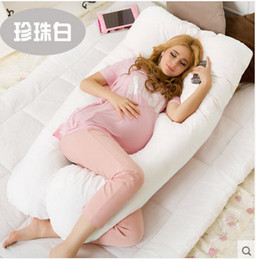 Wholesale Pregnancy Maternity - Wholesale- 2016 new Maternity U Shaped Body Pillows Body Pregnancy Pillow For Side Sleeper Removable Cover 130*70