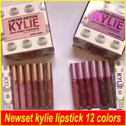 Wholesale Limited Edition Makeup - Newset kylie limited edition kylie makeup with every purchase matte Liquid Lipstick Kylie Jenner lip gloss 12 colors dhl free shipping