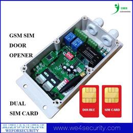 2019 porte de la boîte Vente en gros-GSM Télécommande, GSM Gate Opener Controller, GSM Porte Porte Système de contrôle d'accès Box Double carte SIM porte de la boîte pas cher
