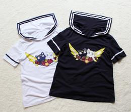 Wholesale T Shirt Women Sailor - Wholesale- 2016 news Anniversary 20th sailor moon tee shirt Luna cotton harajuku t shirt cartton print college girls summer tees tops navy