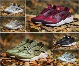 Wholesale Rainbow 45 - Newest Huarache Running Shoes Rainbow Ultra Breathe Shoes Men Women Air Huaraches 1 Mesh Leather Sneakers Size 36-45