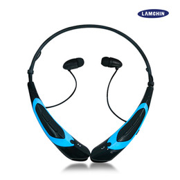 Wholesale Blue Green Music - HBS 760 Wireless Earphone Bluetooth Sport Earphone Hook Neckband Headset Stereo Music Player For Universal Cellphone With Retail Package