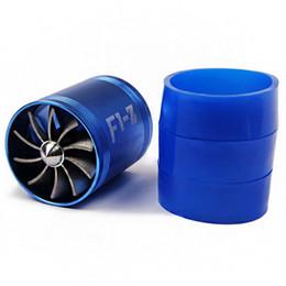 Kits de ingesta de frío online-Blue Cold Intake Turbo Fan Sobrecarga Filtro Inducción Kit de tubo Universal F1-z con envío gratis