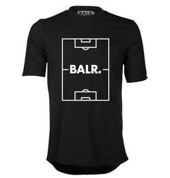 Wholesale Edge Active - round edge football field European code T-shirt Balr Male short-sleeved round neck collar loose tidy summer new tide men's clothing