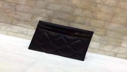 e4e096c69 Marca de lujo de piel de cordero / caviar carteras de PU Mujeres clásico  Enrejado de lujo 11.5 * 8 CM tarjeta titulares paquete de tarjeta monedero  de la ...
