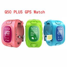 Наручные телефоны gsm онлайн-Wholesale- Kids GPS Tracker Y3 smart wrist Q50 Children baby Smart phone Smart Watch with SOS support GSM Android&IOS Anti Lost Children