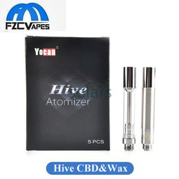 Wholesale Authentic Yocan Hive Atomizer Glass Wax Tank for Eleaf Inano Kamry Bin Kit Bud Touch Battery Original