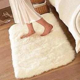 Wholesale Mat Memory - Wholesale-Non-slip Mat Bathroom Floor Rugs Plush Memory Velvet Mats Dust Doormat Floor Rug Carpet Floor Bath Mat Suede 50*80cm