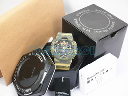 Wholesale Mans Accessories - AAA top full accessories relogio G*100 Camouflage men's sports watches,men watch LED chronograph wristwatch, military watch, digital watch