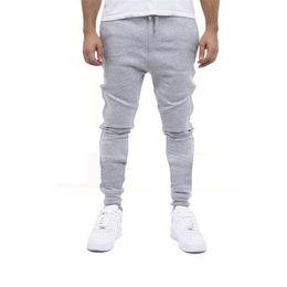 Wholesale Harems Pants For Mens - Wholesale-NEW Designer Mens Pants Harem Joggers Sweatpants Elastic Cuff Drop Crotch Drawstring Biker Joggers Pants For Men Black Gray