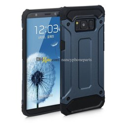 Wholesale Galaxy S4 Case Rose - 2 in 1 Armor Cases For Galaxy S3 S4 S5 S8 Soft Case For Samsung S6 S7 Edge Plus Shockproof TPU+PC Back Cover