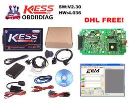 Wholesale Ecu Tools Software - KESS V2 V2.30 4.036 HW V4.036 MASTER OBD2 Manager Tuning Kit No Token Limitation ECM Titanium software Chip Tuning Tool