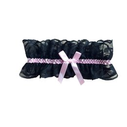 Wholesale Party Garter - Sexy Women Girl Lace Floral Bowknot Bowknot Wedding Party Bridal Lingerie Cos Maid Leg Garter Stocking Suspender Black White