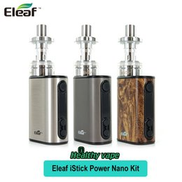 Wholesale Power Heads - Original Eleaf iStick Power Nano Kit 40W iStick Power Nano Box Mod & 2ML MELO 3 Nano Atomizer Tank ECML 0.75ohm Head