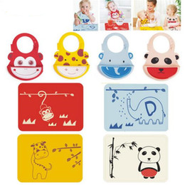 Wholesale Kitchen Utensils Baby - DHL Cartoon Placemat Silicone Placemats Baby Kitchen Accessories Mats Utensil Mats Heat Resistent Silicone Placemat for Baby Tableware Mat
