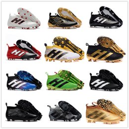 Wholesale Football Height - ACE 17+ PureControl FG AG Men soccer Shoes ACE 17.1 Football Shoes High Ankle Soccer Boots Laceless Soccer Cleats ACE 16+ Football Boots
