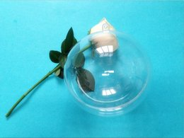 Wholesale Plastic Bio Balls - New Arrival 7cm Clear Plastic Ball Candy Box Christmas Ornament Decoration Ball For Baby Shower Wedding Supplies