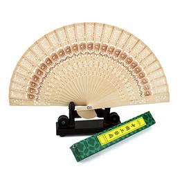 porcellana a buon mercato doni Sconti Imitazione a buon mercato Cina vento sandalo in legno di sandalo fan fan hollow mestiere regalo