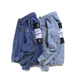 Wholesale Denim Jacket Hooded - fashion casual Brand jeans women tops spring and autumn harajuku summer t shirts Sweatsh men womens clothing denim jacket