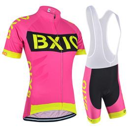 2019 hot-pink-fahrräder BXIO 2017 Neue Radfahren Trikots Rosa Frauen Fahrradkleidung Heißer Sommer Unentbehrliche Outdoor Sports Bike Kleidung Ropa Ciclismo BX-147 günstig hot-pink-fahrräder