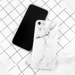 Wholesale New Granite Marble Texture Pattern Phone Cases Hard PC Case for iPhone S Plus s plus Plus Shockproof Phone Bag