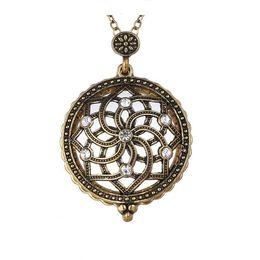 Canada Diamant Collier Tennis Creux Loupe Cercle Pendentif En Verre Plaqué Or Antique Design Médaillon Collier Pour Les Femmes 16N0329 Offre