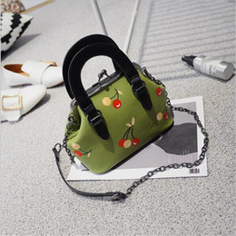 Wholesale Cherry Plain - 2017 New fashion hot sale cherry pattern Korean style bags for women handbag tote evening bag yong fashion