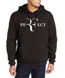 Wholesale Wholesale Streetwear Sweatshirts - Wholesale- Men hipster roger federer fitness hoodies RF Perfect print brand tracksuits 2017 autumn winter fleece harajuku hooded sweatshirt