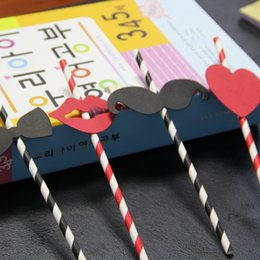 Wholesale Drinking Paper Straw Strip - Wholesale-drinking paper straws creative strip option for Birthday Wedding Party Decoration gift craft DIY favor Wh
