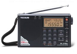 Wholesale Tecsun Free Shipping - Wholesale-Tecsun PL-310ET World Full Band Portable Stereo FM Radio FM AM SW LW DSP Radio Digital Demodulation Radio Clock Free Shipping