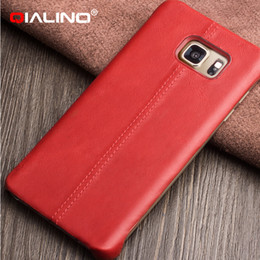 Wholesale Business Style Best Quality Ultra Thin Real Leather Back Cover Case for Samusng Galaxy Note5