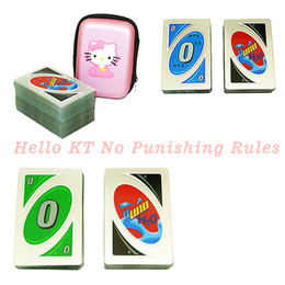 Wholesale Card Board Boxes Wholesale - UNO Boutique Cartoon Box Hello KT Thicker Version Poker Card Board Games no Punish Rules Coated Paper Intelligent Practice Gifts Item
