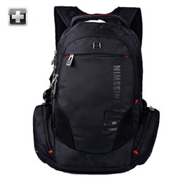 "Wholesale Laptop Bags 17 Black - Wholesale- Hot sale Unisex 17"" Laptop Backpacks Men swiss Backpack for Business Big Capacity Travel Male Sac a dos Black SW8118"