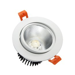 Wholesale Led Dimmable Light Switches - Wholesale- New arrival Super Gorgeous Dimmable LED COB Downlight 7W 9W 12W 15W 18W Recessed Ceiling Lamp Home light with LED Driver