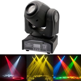 Wholesale Led Stage Mini Spot - 30W MINI LED Spot Moving Head Lights DMX 8 11 Channels dj 8 gobos effect stage lights for Wedding Christmas DJ Disco KTV Bar Event Party
