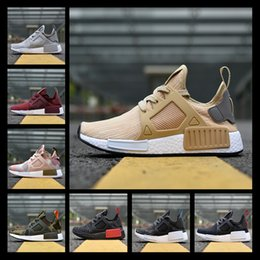 Wholesale Clay Skulls - 2017 NMD XR1 III Running Shoes Mastermind Japan Skull Fall Olive Green Glitch Black White Blue Camo Pack Men Women Sports Shoes 36-44