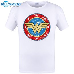 Wholesale Batman Tshirt Women - Wonder Woman Classic Batman Design 2017 New Mens Tshirt Summer Short Sleeve T-shirt Funny Tops Tee Plus Size