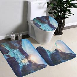 Wholesale Toilet Seats Covers Soft - Wholesale- 3Pcs Set Super Soft Flannel Toilet Seat Cover Set 3D Toilet Rug Contour Pedestal Rug Lid Warm Close Stool Carpet Bath Mat Set
