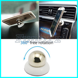 Wholesale Rotary Holder - 360 Rotary Magnet Car Holder For Iphone Accessories GPS Cradle Kit For Samsung Stand Display Support Magnetic Smart Mobile Phone Car Mounts