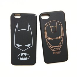 Wholesale Yellow Iron Covers - For iPhone 7 Case 3D Super Hero Iron Man Full Protective Cover for iPhone7 6 s 6s plus 6plus Phone Cases