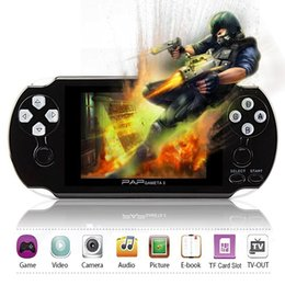 Wholesale Mp5 4gb - 64Bit PAP Gameta-II 4G 4GB PMP PSP MP4 MP5 Video Game Consoles Support 2.4G Wireless Handheld Player Gameta 2 GAMEPAD