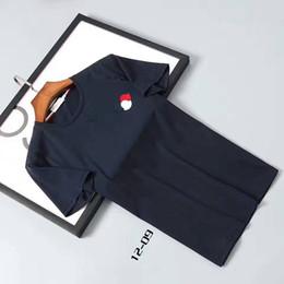 Wholesale Luxury Short Sleeves Men - M1716 hot sale active Luxury brand desiger mon men t-shirt Fashion Casual Shirts mens tops 100% cotton shorts Male loose plus sizes M-XXXL