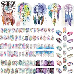 Wholesale Fantasy Decals - Wholesale- 12 Designs Nail Art Sticker Set Windmill Fantasy Image Patterns Water Transfer Decals Nail Beauty DIY Tattoos Manicure BN301-312
