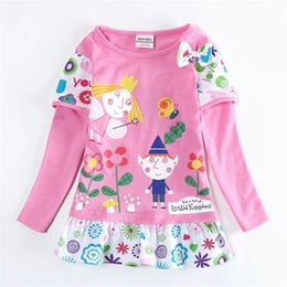Wholesale Lining Tshirts - 2-6y nova kids girls tshirts sweet clothing with flower fairy tale printed China manufacturer cheap baby clothing child t shirts