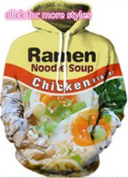 Wholesale Plus Sizes Woman Sweaters - New Fashion Couples Men Women Unisex Ramen Noodle Chicken Beef 3D Print Hoodies Sweater Sweatshirt Jackets Pullover Top S-5XL TT22