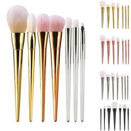 Wholesale Makeup Powder For Black Woman - 7pcs Makeup Cosmetic Brushes Set Powder Foundation Eyeshadow Lip Brush Beauty Tools for women make up