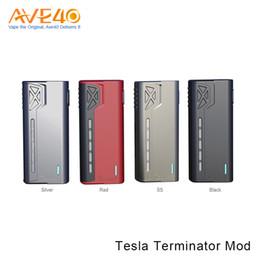 Wholesale Lighting Nano - Authentic Tesla Terminator 90W Box Mod Big Fire Button Bright LED Light Magnetic Design 2A Fast Charging VS Tesla Nano 120W