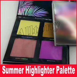 Wholesale Eyeshadow Palette 3d - Newest Beauty Summer 3D 4 Colors Eyeshadow Highlighter palette Gold Pink Editio Summer Solstice Collection Makeup Palettes