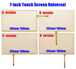 Wholesale Dvd Touchscreen - Wholesale- 10pcs lot New 7-inch 165mm*100mm Touchscreen for Car Audio Car Navigation DVD 7 inches Touch Screen Digitizer Panel Universal