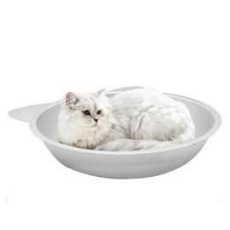 Wholesale Wholesale Aluminum Pans - Summer Aluminum Cooling Cat Pot Pan Cat Nest Cat Sleeping Bed House Pet Supplies Teddy Kennel 0704111